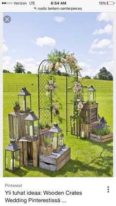 wooden crates wedding ideas metal arch decorated with flowers surrounded by boxes with lanterns mark tattersall photography arch entrance 36 Rustic Wooden Crates Wedding Ideas Wedding Aisles, Wedding Ceremony Ideas, Wedding Reception Entrance, Wedding Lanterns, Wedding Boxes, Outdoor Ceremony, Wedding Decorations, Wedding Ceremonies, Wedding Entrance Decoration