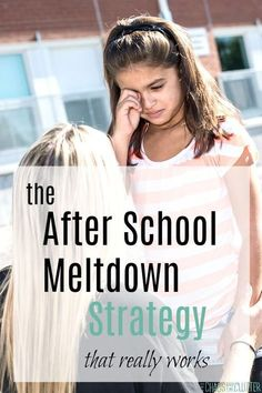 An After School Meltdown Strategy that really works #parenting #parentingtips #parentingspecialneeds