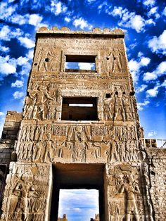 The gateway of Medinet Habu, the mortuary temple of Ramesses III, Luxor