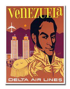 Venezuela Art Travel Poster Vintage Home Decor Print Retro xr515  Vintage Travel…