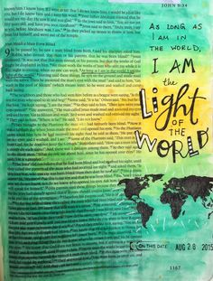 Bible journaling, John 9:5 — Arden Ratcliff-Mann #illustratedfaith
