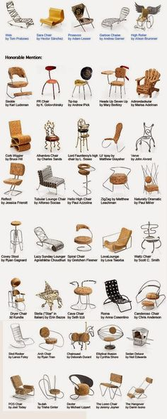 Miniature chairs from Champagne corks