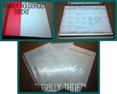 Free printables to set up your own Family Household Binder.