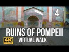 Pompeii Virtual Walk in Part 4 - -You can find Pompeii and more on our website.Pompeii Virtual Walk in Part 4 - - Virtual Museum Tours, Virtual Tour, Places To Travel, Places To Go, Virtual Field Trips, Virtual Travel, Travel Tours, Walking Tour, Around The Worlds