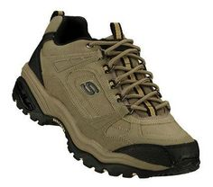SKETCHERS Mens Natural Energy 3 Punisher Lace-up Sneakers - Ground the competition in the SKECHERS Energy sneaker. Smooth leather, oiled leather or scuff resistant leather upper. Sneakers Mode, Sneakers Fashion, Skechers Mens Shoes, Sketchers Shoes, Look Cool, Smooth Leather, Punisher, Hiking Boots, Men's Shoes