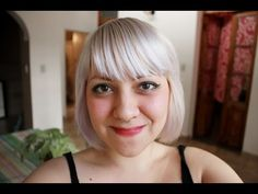 Como obtener pelo rubio platino, blanco, gris - white hair, silver hair. ( tutorial ) - YouTube