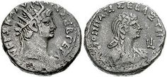 Coin of Nero and Poppaea Sabina