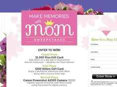 From You Flowers Make Memories with Mom Sweepstakes