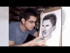 dibujando y pintando a el cantante JUANES (+lista de reproducción)
