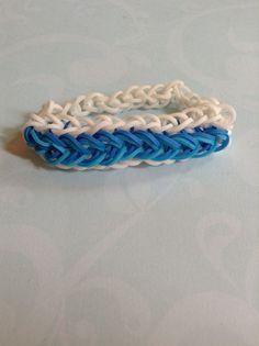 Raindrops bracelet  By Crafty loomy (rainbowloom.com)