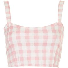 **Josie Crop Top by Motel (£22) ❤ liked on Polyvore featuring tops, crop tops, shirts, pink, pink shirt, crop top, shirt crop top, crop shirts et sweetheart neckline top
