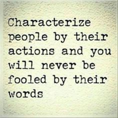Characterize people by their actions
