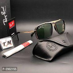 Pre-Owned Men Ray-Ban Stylish Green Sunglasses Excellent Designer Unisex Wear Tony Stark Sunglasses, Cool Sunglasses, Mirrored Sunglasses, Gucci Logo, Eyeglass Frames For Men, New Green, Sunglass Frames, Unisex