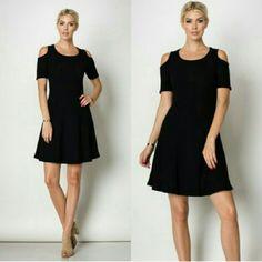 Nwot Flared Cold-Shoulder Dress