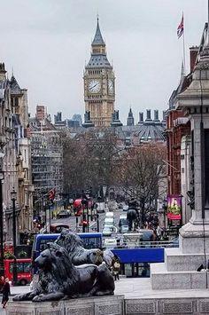 London - Big Ben from Trafalgar Square
