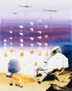 Fallen fruit: Victoria Miro presents John Kørner's 'Apple Bombs' Fall Fruits, Pop Surrealism, Korn, Contemporary Paintings, Figurative Art, Denmark, Street Art, Presents, Victoria