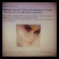 "Makeup Tutorial ""Tricks of Foundation Choise"" - Trucchi per la scelta del Fondotinta http://matutteame.blogspot.com/2013/11/makeup-tutorial-tricks-of-foundation.html"