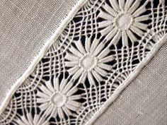 Dentelle de Cilaos...beautiful drawn thread work which could also be classed as needle lace it's that fine