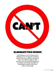 Eliminate this word from your vocabulary.