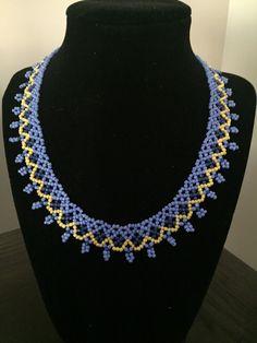Beaded Necklace Handmade Necklace Collar by CreativeBeads4U