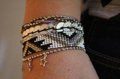 Cpourki - Page 2 - Cpourki Loom Bracelet Patterns, Bead Loom Bracelets, Bead Loom Patterns, Woven Bracelets, Seed Bead Jewelry, Beaded Jewelry, Handmade Jewelry, Jewellery, Bracelets Wrap En Cuir
