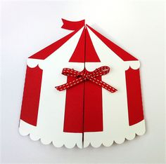 CUSTOM Circus Tent invitation folders with by MyPaperPlanet Carnival Tent, Diy Carnival Games, Carnival Decorations, Carnival Themed Party, Carnival Birthday Parties, Carnival Themes, Circus Party, Party Themes, Circus Theme