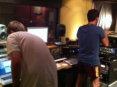 Recording of new album at Bounce County, Melbourne. Count Bounce in his infamous footy shorts.