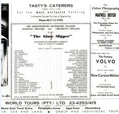 """The Glass Slipper"" Alexander Theatre, Braamfontein (1959)"