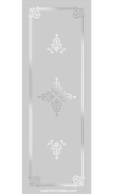 Any of our Victorian / Traditional etched glass designs can be incorporated into any glass design and in most glass sizes. We specialise in bespoke decorative glass so the designs are here for your inspiration. All of our Traditional