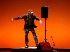 """Savion """"Happy Feet"""" Glover - 2010....no music, no sound except Savion Glower himself...a 21st century tap dancer/artist"""