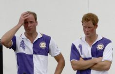 Britain's Prince William (L) and Prince Harry stand next to each other after competing in the Jerudong Trophy polo match at Cirencester Park Polo Club near Cirencester in central England July 14, 2013. REUTERS-Luke MacGregor