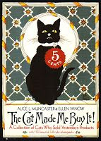 """The Cat Made Me Buy It"" (book on the history of vintage ads with cats)  #blackcatsrule blackcats_rule fb smoky.blackcatsrule"