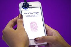 It has been just a couple of days since Apple's new iPhone was released in major markets across the globe. Now, the Cupertino company is faced with an embarrassment after a hacker group breached the 'Touch ID' of iPhone fingerprint scanner system Fingerprint Technology, Fingerprint Id, Fingerprint Recognition, Iphone 5s, Apple Iphone, Newest Smartphones, Finger Lights, Finger Print Scanner, Apple New