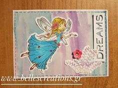 This is my DT card for the new challenge at Simply Create Too with themeUse Stitching (real or faux). Creations, Fairy, Create, Stitching, Cards, Challenge, Painting, Costura, Stitches