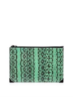 Prisma snake and leather clutch #WhereToWear #WeekendBrunch | styloko.com