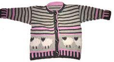 Foto af fåretrøje 2 med rosa Animal Knitting Patterns, Knits, Infant, Baby, Girls, Sweaters, Design, Fashion, Decorating Cakes