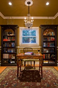 traditional home office by Chris Jovanelly Interior Design