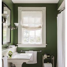 A bathroom painted in our Calke Green #farrowandball #interiordesign #bathroom #inspo #décor #homedesign