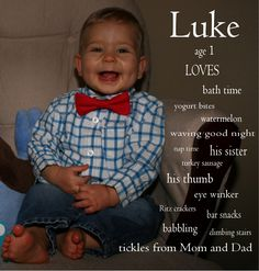 First Birthday Photo.... Such a cute idea for those w/ lil 1s right now!!