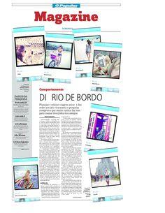 Matéria sobre o uso de redes sociais para planejar viagens publicada em O POPULAR em 19 de novembro de 2013