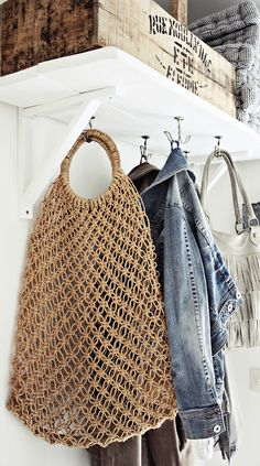 Coat Rack - this type of shelf // maybe in little storage area