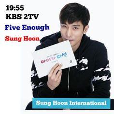 """""""19:55 tonight!! meet #sunghoon #KBS 2TV drama #fiveenough #FiveChildren .. .. .. #성훈@sunghoon1983@stallion__entertainment Fighting!!#ソンフン#roi#방성훈…"""""""