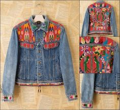 oooh! I used to make jackets like this in the 80's! Maybe I will try this again...a fun way to use up bits of textile and interesting fabric