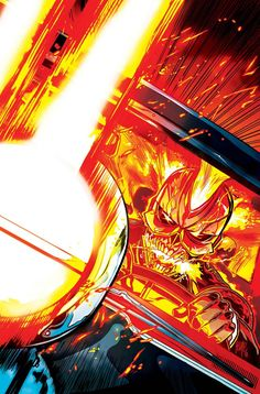 I haven't read Ghost Rider yet but the design of the character intrigues me. I love classic Motorcycle Riding Rider but I drive a car and I drive it much like a bat out of hell so I can relate! Marvel Dc, Marvel Comics Art, Marvel Comic Books, Marvel Heroes, Comic Superheroes, New Ghost Rider, Ghost Rider Marvel, Spirit Of Vengeance, Monster Squad