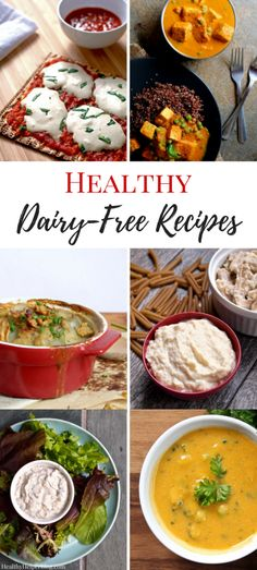 11 Healthy Dairy-Free Recipes   Healthy Helper @Healthy_Helper The ultimate collection of non-dairy versions of traditionally dairy-filled dishes! Healthy, lower-fat alternatives to lactose-laden comfort foods and classic recipes that rely on dairy for their taste. You'll never know the difference between these delicious, (mostly) vegan recipes and the originals!