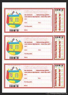 Finde Diesen Pin Und Vieles Mehr Auf Geburtstag Von Tinax76.  Indoorspielplatz Einladungskarte Zum Kostenlosen Ausdrucken Für Den  Kindergeburtstag: ...