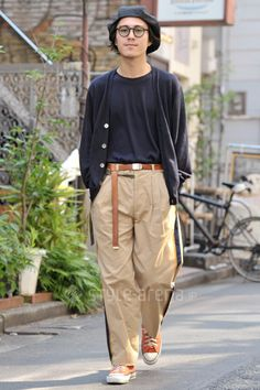 Ryota   BEAUTY & YOUTH UNITED ARROWS used BED J.W. FORD O MOSCOT CONVERSE 無印良品   3rd week  May. 2016   Harajuku   Tokyo Street Style   TOKYO STREET FASHION NEWS   style-arena.jp