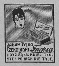 Atqa Beauty Blog :: Czekoladki. Reklama prasowa, 1928.