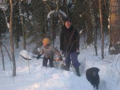 Elänne talvi 2010 tyttöjen kanssa.