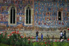 Family Road Trip – Prayer and Meditation - Moldovita Monastery Family Road Trips, Romania, Meditation, Prayers, Painting, Painting Art, Paintings, Painted Canvas, Drawings
